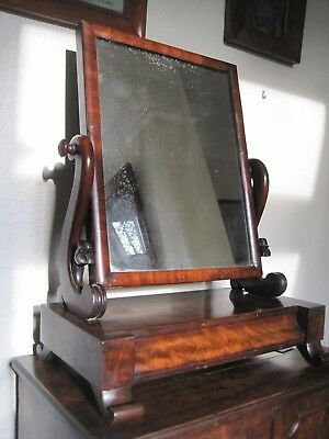Mahogany William IV Dressing Mirror with drawer
