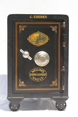 Small Antique Meilink's Combination Safe *home Deposit Vault*  ***super Nice***