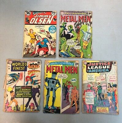 Lot Of 5 DC Reader Grade Comics Metal Men 13 15 Worlds Finest 166 Jimmy Olsen