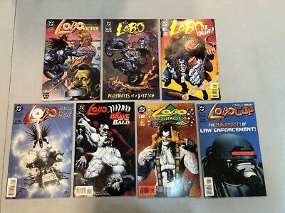 Lot Of 7 Lobo One Shot DC Comic Books - Hollywood Gallery In The Chair Lobocop