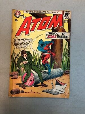 The Atom 14 1964 Missing Back Cover Tape On Whole Spine DC comics Poor Low Grade