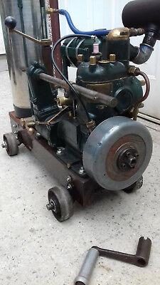 Stuart Turner Marine Engine on trolley
