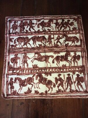 Auth Vintage Pierre Balmain Made In France Silk Square Scarf
