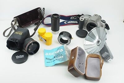 Assorted items including Canon EOS Rebel XSN and a Accura Bouncemaster model III