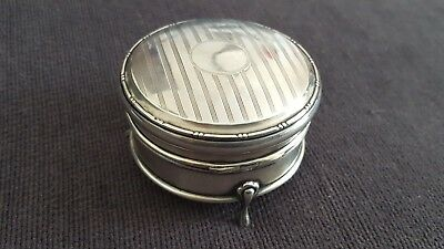 Lovely Antique Sterling Silver Trinket Box 1913/14