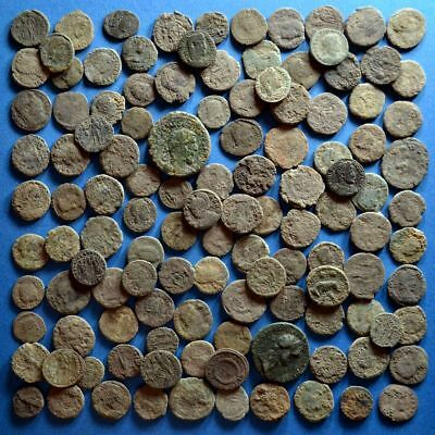 Lot of 120 Uncleaned Roman Bronze Coins