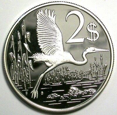 Cayman Islands 1979 Two Dollar Superb DCAM Low Mintage Proof 925 Sterling Silver