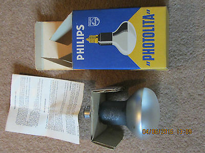 Philips Lamp Bulb Photolita 275w B22 250volt - TYP.PF216 B/43- BAYONET WORKING