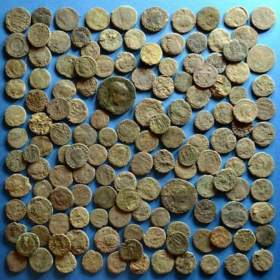 Lot of 140 Uncleaned Roman Bronze Coins