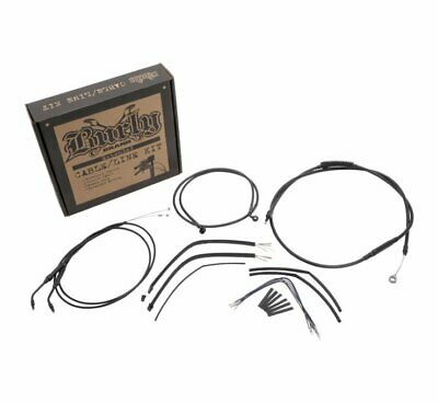 Burly Cable and Brake Line Kits Black 8in. Ape Hangers B30-1138