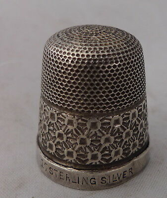 Antique Sterling Silver Thimble Size 17 2.9g A602017