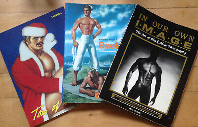 """""""In Our Own Image"""", """"Beefcake"""" """"Tom of Finland"""" - three books featuring the nude"""