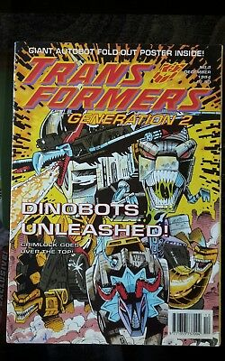 Transformers Comic #3 1994 Fleetway UK Gen 2 (Not Marvel) + Free Gift Poster