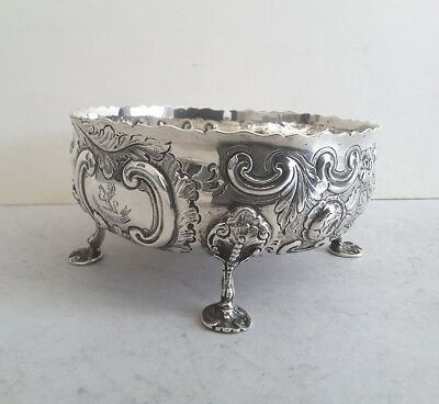 Quality, Crested, Ant. Solid Silver Cast & Embossed Bowl.   236Gms.  Lon.1877.