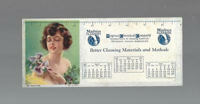 1927 Magnus Chemical Company All In One Blotter, Calendar, Ruler