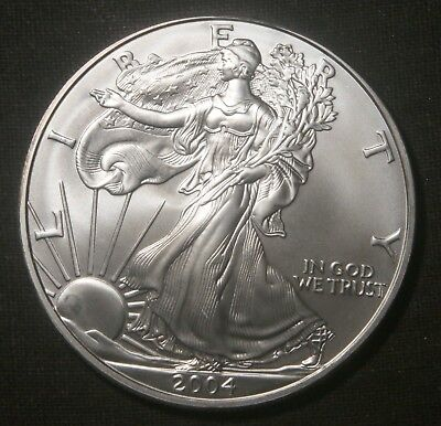 2004 Silver American Eagle 1 Oz Bullion Coin  Lot 150326
