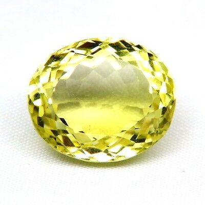 TOP LEMON CITRINE : 21,46 Ct Natürlicher Lemon Citrin aus Madagaskar