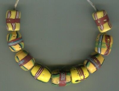 African Trade beads Vintage Venetian glass beads nice old french cross type