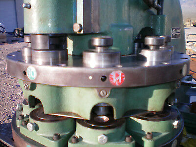 Diacro #12 turret punch, 23 sets punch and dies, cleaned, heavy duty, on cabinet
