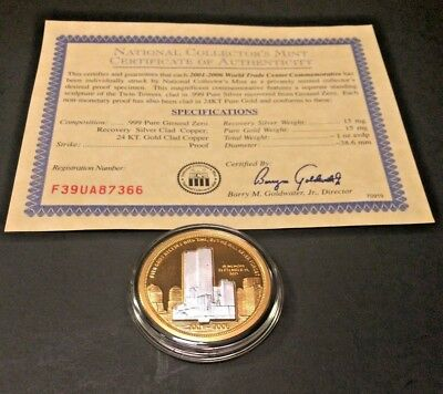 World Trade Center 5 Year Commemorative Coin 2001 - 2006
