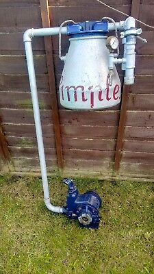 Simplex/Williams & James, vintage stationary engine milking parlour vacuum pump