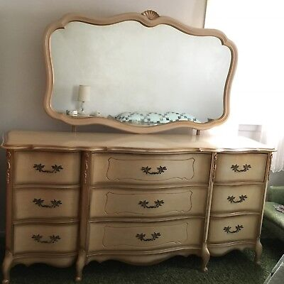 Vintage 1950u0027s French Provincial 5 Piece Girls Bedroom Set Amazing Condition