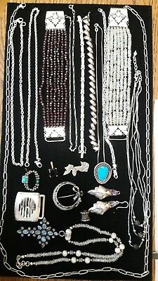 Lot of Vintage & modern Sterling Silver WEARABLE Jewelry  NO SCRAP 263 Grams