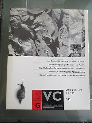 Jessop VC Gloss B&W photographic paper 10x8. approx 53 sheets