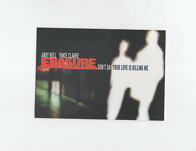 Erasure New Single Promotional Postcard - Dont Say Your Love Is Killing Me Cd