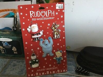 rudolph the red nosed reindeer flat ornaments