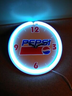neon pepsi advertising clock (vintage?) RARE. EXCELLENT CONDITION