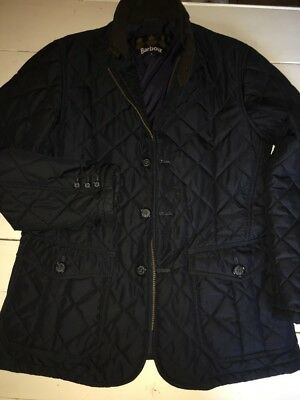 "Men's Barbour International ""Ariel""? Quilted Jacket Size Small in Dark Blue"