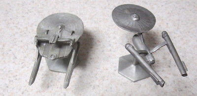 1991 STAR TREK Lot Of 2 USS Reliant & Enterprise Rawcliffe Pewter Figurines