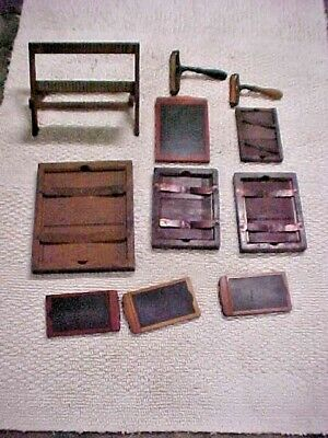 Lot of 11 Parts From Antique Conley Box Camera