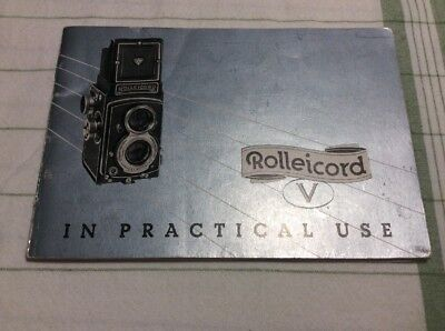 Vtg Rolleicord V Camera Practical Use Manual Instruction Book 50's
