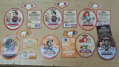 Womans  BEER LABELs from Poland x 7