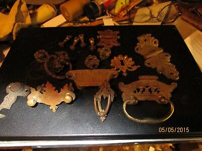 Vintage brass furniture pullers assorted Items