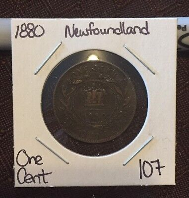 1880 Newfoundland One Cent Lot 107