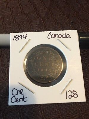 1894 Canada Large Cent Lot 128