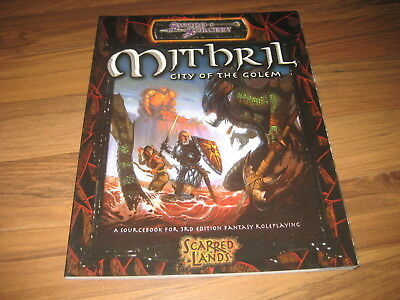 D&D 3.5 Scarred Lands Mithril City of the Golem Sword & Sorcery d20