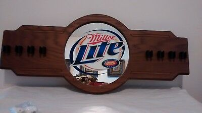 Miller Lite Wooden Pool Cue Holder NEW IN BOX