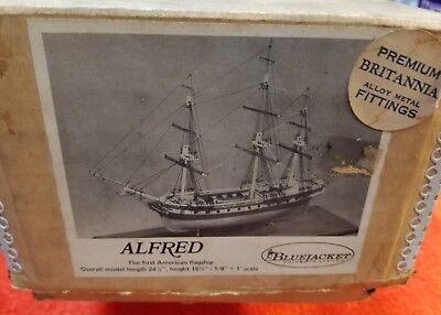 """C.N.S. Alfred """"The First American Flagship"""" 24 1/2"""" Wooden Model by Bluejacket"""