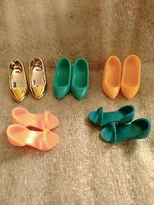 Original 1980S Jem And The Holograms Doll Shoes. Lot Of 5 Pair.sandals, & Pumps