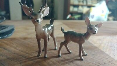 Vintage lot deer buck doe wildlife animals ceramic horns