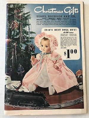 Sears Vtg 1940's CHRISTMAS GIFTS Catalogue Dolls, Toys Trains, home clothes