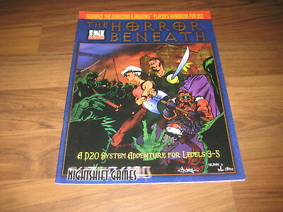 d20 The Horror Beneath Adventure Softcover Nightshift Games 2000