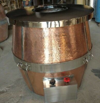 Copper custom built one of a kind Tandoor Oven , Perfect for Open Kitchen Naan
