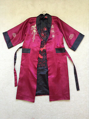 Contemporary Unisex Chinese Robe Reversible Size L Bought In Xian China