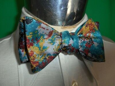 Vintage Green Gold Baubridge & Kay Pure Silk Bow Tie - Steampunk Prom Formal