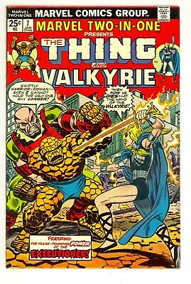 Marvel two in one 7 thing and valkyrie vf/NMHigh Res scans